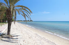 Sunny beach at Chalkidiki in Greece Royalty Free Stock Photos