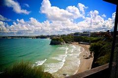 Sunny beach. Cornwall sunny beach Stock Images