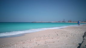 Sunny beach day time lapse from dubai city Stock Photography