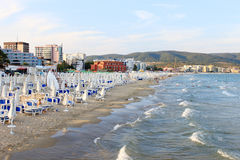 Sunny Beach in the Evening Stock Image