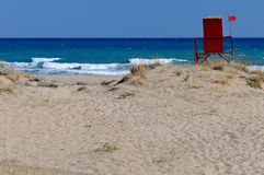Sunny beach in Greece Royalty Free Stock Image