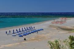Sunny beach in Greece Royalty Free Stock Photo