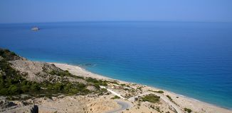 Sunny beach in Greece Stock Images