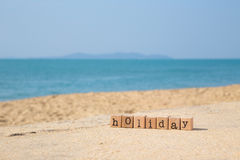 Sunny beach holiday season Royalty Free Stock Photography