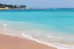 Sunny beach by Indian Ocean. Sunny beach near Mirissa, Sri Lanka Stock Images