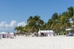 Sunny beach in Isla Mujeres, Mexico Stock Image