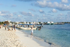 Sunny beach in Isla Mujeres, Mexico Royalty Free Stock Photo