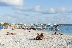Sunny beach in Isla Mujeres, Mexico Stock Photography