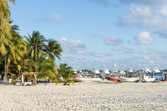 Sunny beach in Isla Mujeres, Mexico Royalty Free Stock Image