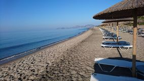 Sunny beach. On the island Kos Stock Photo