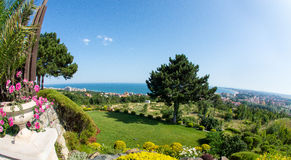 Sunny Beach och StVlas i Bulgarien Fotografering för Bildbyråer