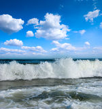 Sunny Beach On Coast Of Atlantic Ocean Royalty Free Stock Images