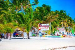 Sunny beach in Punta Cana Royalty Free Stock Image