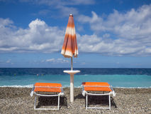 Sunny beach. At Sicily at Italy Royalty Free Stock Images