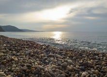 Sunny beach. At Sicily at Italy stock photography