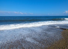 Sunny beach. At Sicily at Italy royalty free stock image