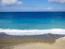 Sunny beach. At Sicily at Italy stock photo