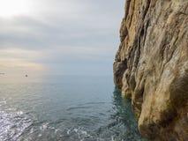 Sunny beach. At Sicily at Italy royalty free stock photography