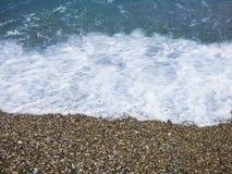 Sunny beach. At Sicily at Italy royalty free stock photo