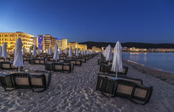 Sunny Beach in the summer at night Royalty Free Stock Photo