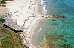 Sunny beach at Halkidiki, Greece Stock Images