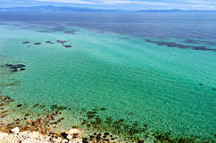 The Mediterannean sea in Greece Stock Images