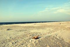 Sunny beach, Baltic coast royalty free stock photo