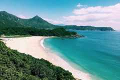Sunny beach. Take the photo in Hong Kong on 16 th Apr 2017 Stock Image