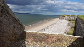 Sunny beaches. Fort in summer Stock Photography