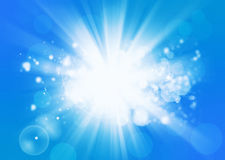 Sunny Beam On Blue Background Royalty Free Stock Images