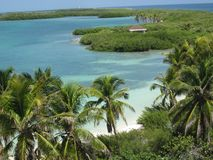 Beautiful landscape of a Caribbean paradise island stock photos