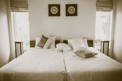 Sunny Bedroom fotografia de stock royalty free