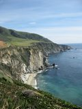 Sunny Big Sur Coastline, CA, USA Stockbilder