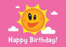A Sunny Birthday Illustration Stock Photos