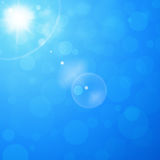 Sunny Blue Background Royalty Free Stock Photo