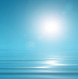 Sunny, blue background Stock Photography