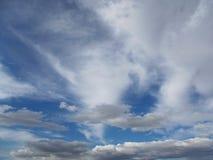 Sunny Blue Cloudy Background Lizenzfreie Stockbilder
