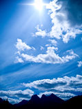 Sunny Blue Mountain Sky Royalty Free Stock Photography