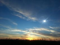 Sunny blue skies Royalty Free Stock Photography