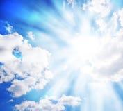 Sunny blue sky Stock Photography