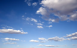 Sunny Blue Sky Clouds Stock Photos