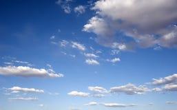Sunny Blue Sky Clouds. Blue sunny skies over Salt Lake City, Utah, USA Stock Photos
