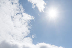 Sunny blue sky Royalty Free Stock Images