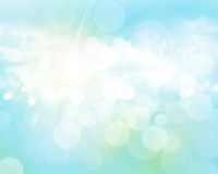 Sunny blurred bokeh background Stock Images