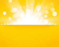 Sunny blurred bokeh background with copyspace. Yellow sunny blurred bokeh abstract background with copyspace Royalty Free Stock Images