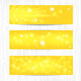 Sunny bokeh banners design for Your website or advertising. Vector EPS10 Stock Images
