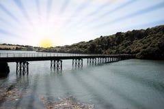 Sunny bridge Royalty Free Stock Photography