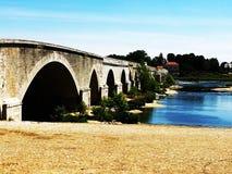 Sunny bridge. Beautiful bridge in full sun Royalty Free Stock Images