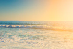 Sunny bright colorful day and wavy ocean Stock Photo