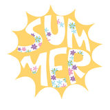 Sunny bright positive composition. Summer. Good mood. The sun. Inscription Royalty Free Stock Photos